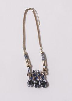 marine style necklace  #marine #style #necklace #blue #white
