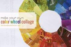 Free DIY color wheel printable -- fun project for kids or teens (color in or use scraps from magazines, scrapbook paper, or fabric)