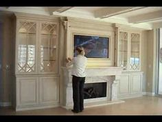 Reversible cabinet...Hide TV when not in use. Awesome!