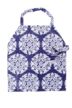 Waterproof Apron - Primary - Blue & White