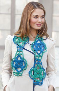 Celtic Knot  Scarf: free pattern