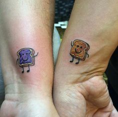 Pb & j best friend tattoos by steffen jewell couple tattoos, 13 tattoos, unique J Tattoo, Lila Tattoo, Ink Tatoo, Body Art Tattoos, Hamsa Tattoo, Rose Tattoos, Flower Tattoos, Sibling Tattoos, Sister Tattoos