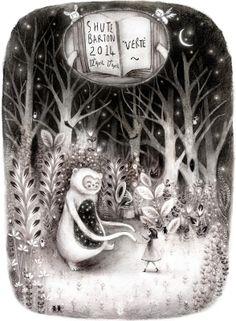 Firefluff Blog Lisa Evans, Children's Picture Books, Black And White Illustration, Little Monsters, Children's Book Illustration, Ink Art, Aesthetic Pictures, Chiaroscuro, Art Reference