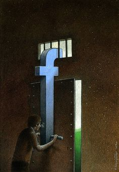 Seeing the real world only through the lens of Facebook, instead of enjoying it first hand... Funny!