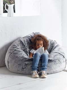 If ever I had this much money to spend on a beanbag this would be the one! NEW Supersoft Faux Fur Beanbag - Husky - Cushions, Beanbags & Throws - Decorative Home - Indoor Living