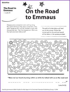 On the Road to Emmaus- Kids Korner - BibleWise