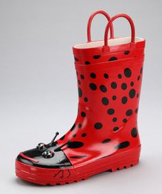 Take a look at this Red Ladybug Rain Boot by Spring Showers: Kids' Rain Boots on #zulily today!
