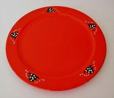 Waechtersbach Christmas Tree Service Plate Charger Red Pottery Western Germany  #Waechtersbach #ArtDeco