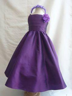New SP7 Dark Purple Children Pageant Flower Girl Dress Size 1 2 4 6 8 10 12 14 | eBay