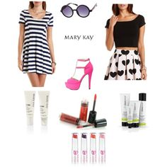 Fun, Skincare and Color All Work Together! by deelee052 on Polyvore featuring Charlotte Russe and Mary Kay