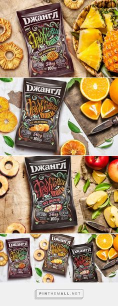 Fruit chips packaging by Katya Usova. Source: Behance. Pin curated by #SFields99 #packaging #design #inspiration #ideas # branding #fruit #chips