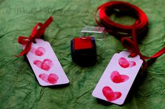 Thumbprint Heart Bookmarks - invitations?