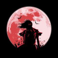 """""""True Vampire"""" by Alteho is $10 today at ShirtPunch.com (10/15). #tshirt #Hellsing #Alucard #TrueVampire #Manga #Anime"""