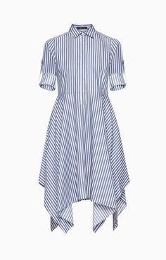 Beatryce Striped Shirt Dress