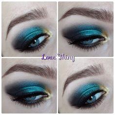 Dramatic Green Eye Make-Up http://dazzlelight1991.blogspot.fi/2014/02/dramatic-green-eye-tutorial.html
