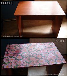 Diy Tutorial Decoupage table stół pod maszynę do szycia  Decoupage