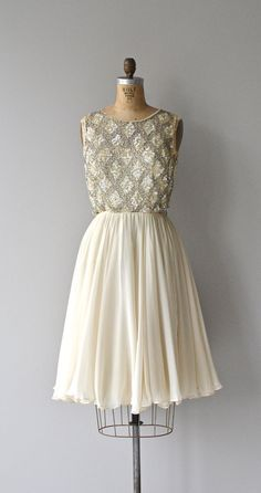 Looking Glass dress vintage beaded 60s dress by DearGolden