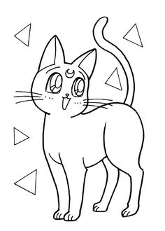 Sailor Moon Coloring Pages, Adult Coloring Book Pages, Cute Coloring Pages, Coloring Books, Sailor Moon Manga, Pusheen Coloring Pages, Sailor Moon Birthday, Pokemon Sketch, Dibujo