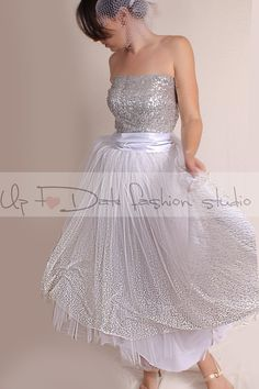 Vintage Inspired  / Wedding Dress/ 50s by UpToDateFashion on Etsy