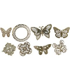Boxed Filigree Embellishment Assortment 80 Pieces-Old Brass 2 : Embellishments : scrapbooking :  Shop | Joann.com