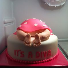 It's a Diva Baby Shower Cake. Adorable for a fashion or diva themed baby shower. Use Patchi's Stylish Purse Chocolate favors as gifts to guests! http://www.patchi.us/baby-girl-porcelain-pink-green-purse-favor.html