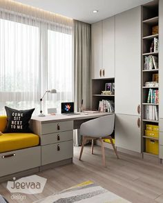 Study Room Design, Room Design Bedroom, Home Room Design, Kids Room Design, Home Office Design, Home Office Decor, Home Decor Bedroom, Home Interior Design, Apartment Interior