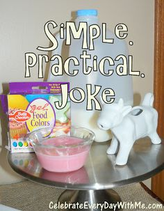 simple little practical joke to play on the kids for April Fool's Day