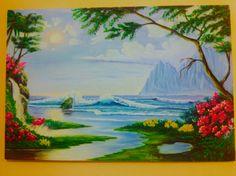 Tropical Art, Landscape Paintings, Oil, Canvas Art, Canvases, Landscape, Landscape Drawings, Butter