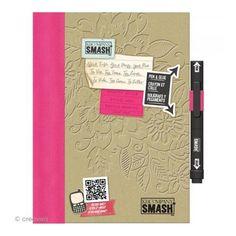 Smash book Pretty pink - Journal 40 pages - Carnet à décorer - Creavea