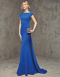 Pronovias > FLEUR -  Vestido de fiesta largo azul