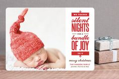 Baby's First Christmas Cards, Holiday Birth Announcements | Minted