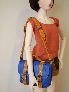 1pinfun 迷你 斜背包 Doll BJD 人形玩偶專用 寶藍色 - 一平方 1pinfun   Pinkoi