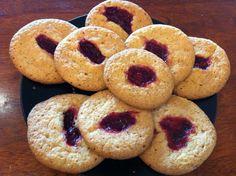 Glutenfrie bringebærcookies