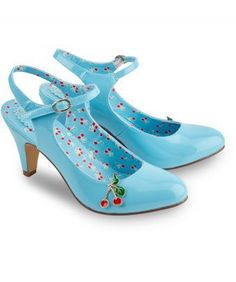 031e98fe58e Get a little cheeky in these cherry shoes. A beautiful patent blue is  partnered with