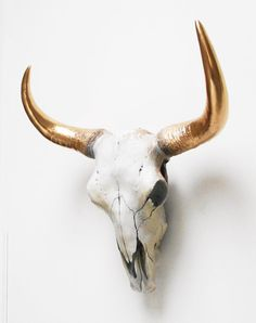 Buffalo Skull Faux Taxidermy Cow Skull Animal by hodihomedecor