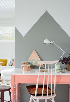 Brighten up your workspace with a peach desk.