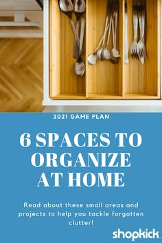 "When you hear or see the word ""organize"", your mind may wander to thoughts of full days spent cleaning and big spaces becoming decluttered. That sounds overwhelming to us! So, instead, we have smaller areas and projects on our minds. From your hall closet to your kids' playroom (and a few additional spaces in between), here are the spaces we'll be organizing and how you can join in too. #organization #2021 #cleanhouse #clutterfree #konmarimethod"