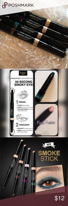 Butter London Smoke Stick in Flash Fusion You'll receive Butter Londons latest product in shade Flash Fusion. This has not been used. Retails for $20. Bundle with additional items for a 20% discount.  Features + Benefits:  2-in-1, Cream Shadow and Cream Highlighter Quick, no tools needed Lasting wear Can be worn alone or over shadow Portable and easy to use Crease resistant Butter London Makeup Eyeliner
