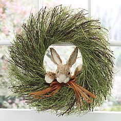 Easter Peek-a-boo bunny wreath - Country Door Wreaths For Front Door, Door Wreaths, Easter Wreaths, Christmas Wreaths, Spring Home Decor, Easter Crafts, Easter Decor, Easter Ideas, Easter Centerpiece