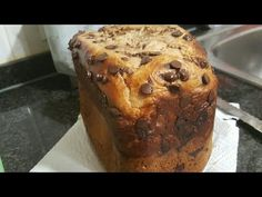 Brioche con pepitas de chocolate en panificadora de lidl - YouTube Receta Pan Brioche, Banana Bread, Bakery, Muffin, Make It Yourself, Breakfast, Chocolate Brioche, Desserts, Youtube