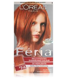 L'Oreal Paris Hair Color Feria Hair Color, 74 Deep Copper (Packaging May Vary) Feria Hair Color, Red Hair Color, Cool Hair Color, Best Box Hair Color, Copper Red Hair Dye, Dyed Red Hair, How To Dye Hair At Home, At Home Hair Color, Best Home Hair Dye