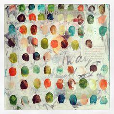 "Tracy Verdugo - ""Love Is Sweet Always - Important & Authentic"" Art Journal Pages, Art Journals, Textiles Sketchbook, Collage Art Mixed Media, Fingerprints, Art Journal Inspiration, Birdhouses, Art Tutorials, Altered Art"