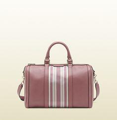 Candy striped Boston bag