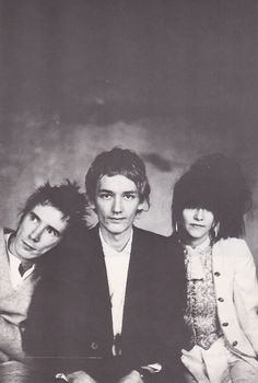 PiL (1981). John Lydon, Keith Levene and Jeannette Lee.