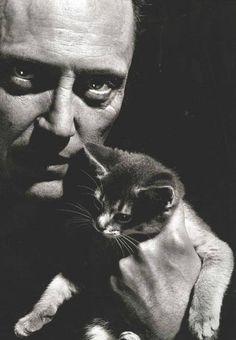 Christopher Walken and kitten...Great photo!