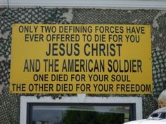 Two have been willing to die for you...