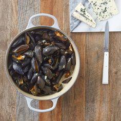 Lekker recept gevonden: Mosselen met roquefort Mussels, Meat, Cooking, Ethnic Recipes, Foods, Drinks, Diy, Salad, Kitchens