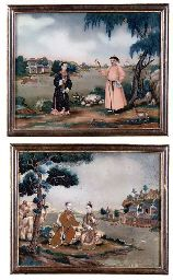 A PAIR OF CHINESE REVERSE GLASS PAINTINGS  18TH CENTURYhttp://www.christies.com/