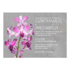 Orchid Wedding Invitations Invitation