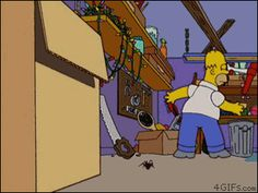 *GIF, Click here* Homer Simpson and Spider
